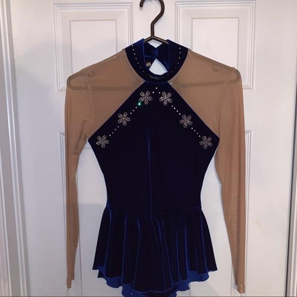 Blue Figure Skating Dress